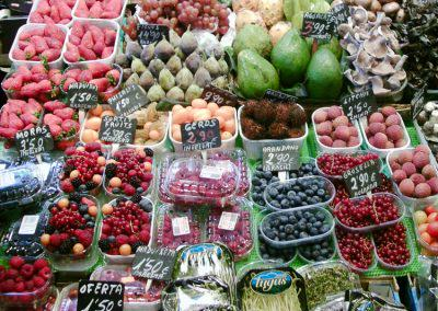 fruit stall in French market