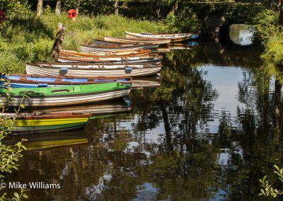 Boats at Ross castle Killarney