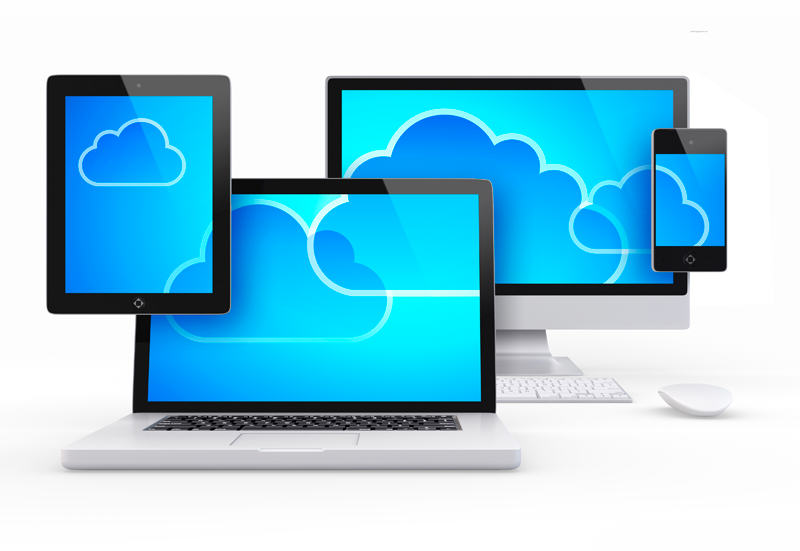 clouds on multiple size screens