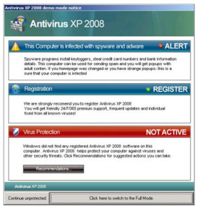 Yet another fake Microsoft alert image